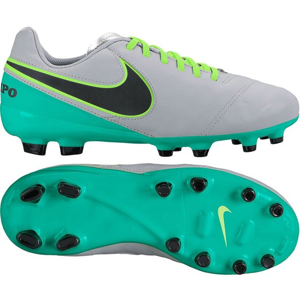 7245b1f88ca Nike Tiempo Legend 6 FG Elite Pack - Wolf Grey Black Clear Jade Kids ...