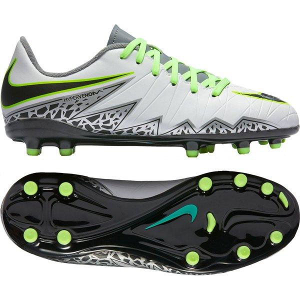 new arrivals 86f0c 8dbd2 Nike Hypervenom Phelon II FG Elite Pack - Gris Argenté Vert Enfant 0