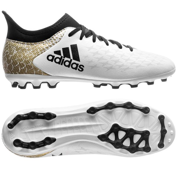 the latest d44bf 81df0 adidas X 16.3 AG Stellar Pack - White Core Black Gold Metallic Kids    www.unisportstore.com