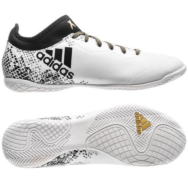 promo code 302a8 b1eb6 adidas X 16.3 Court IN Viper Pack - White Core Black Gold Metallic    www.unisportstore.com