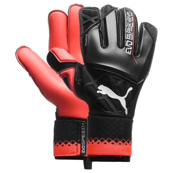 PUMA Goalkeeper Gloves evoSPEED 1.5 Black/High Risk Red