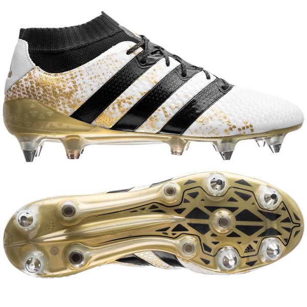 061c41ffcb86 adidas ACE 16.1 Primeknit SG Stellar Pack - White Core Black Gold Metallic.  Read more about the product. - football boots. - football boots image shadow