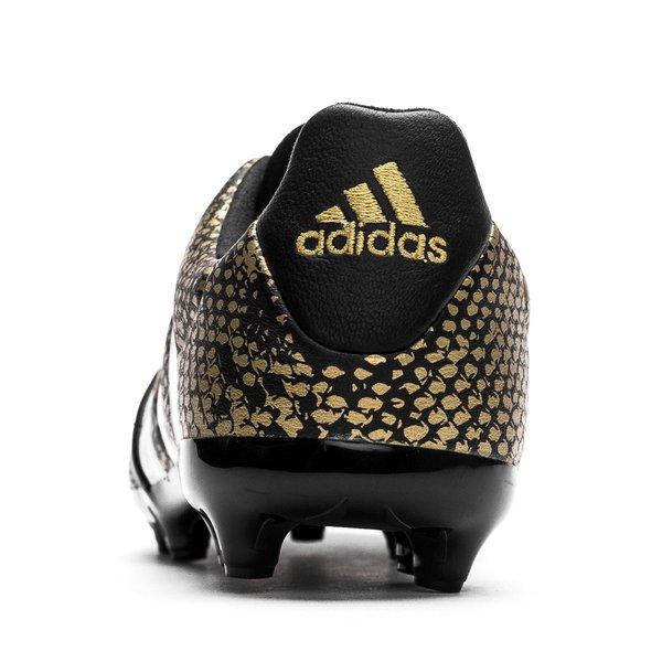 adidas ACE 16.1 Läder FG AG Stellar Pack - Svart Vit Guld Barn  bf9ba18636805