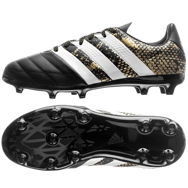 adidas ACE 16.1 Läder FG AG Stellar Pack - Svart Vit Guld Barn. Läs mer om  produkten. Jämför modeller. - fotbollsskor. - fotbollsskor 14a1403328697