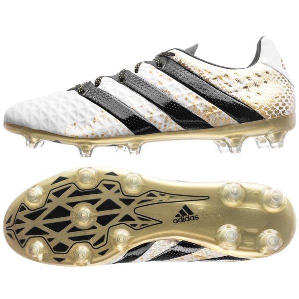 sale retailer 59255 b1aa0 adidas ACE 16.2 FG/AG Stellar Pack - White/Core Black/Gold ...