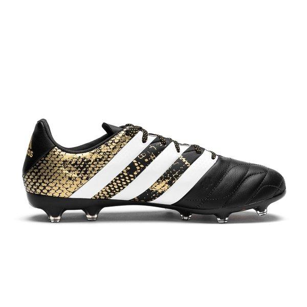 adidas ACE 16.2 FG AG Leather Core Black White Gold Metallic