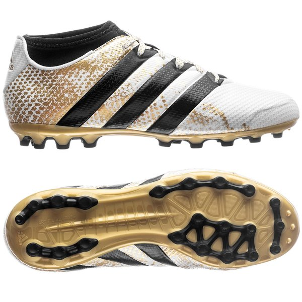 c88fbe9fb6e3 adidas ACE 16.3 Primemesh AG Stellar Pack - White Core Black Gold Metallic  Kids. Read more about the product. - football boots. - football boots ...