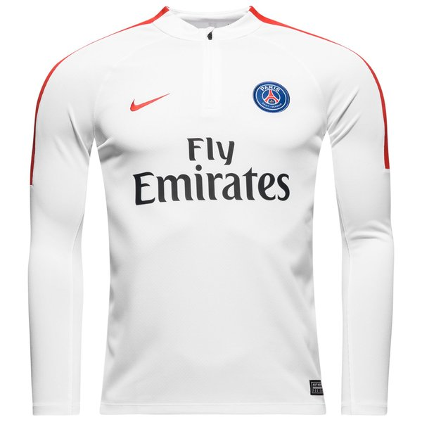 best authentic dff88 fbade Paris Saint Germain Training Shirt Drill Top 1/4 - White ...