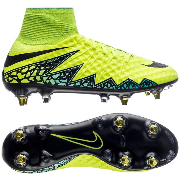 get new best wholesaler autumn shoes Nike Hypervenom Phantom II SG-PRO Anti-Clog - Volt/Black/Hyper Turquoise