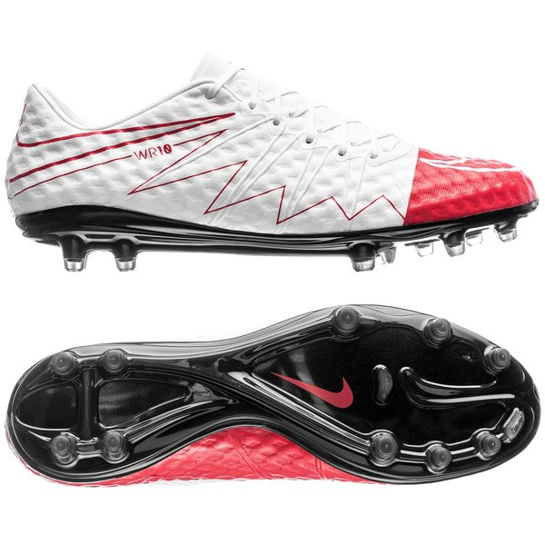 on sale b279d 6191b Nike Hypervenom Phinish FG WR250 - White/University Red ...