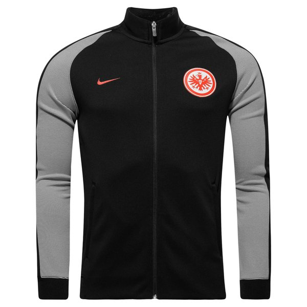 eintracht frankfurt trainingsjacke authentic n98 schwarz. Black Bedroom Furniture Sets. Home Design Ideas