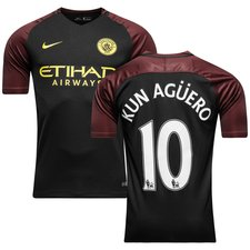 Manchester City Udebanetrøje 2016/17 KUN AGÜERO 10 Børn