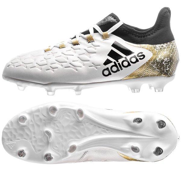 Adidas X 16 1 Fg Ag Stellar Pack Hvid Sort Guld Børn Www Unisport Dk