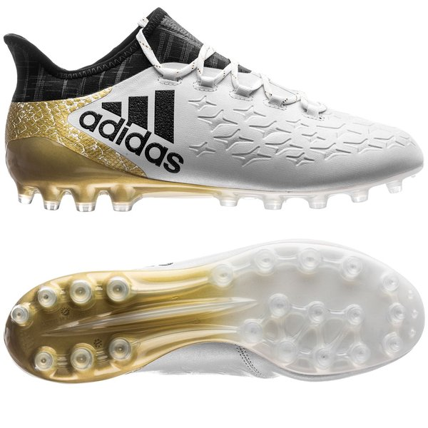 adidas X 16.1 FGAG Leather Stellar Pack Core BlackWhiteGold Metallic