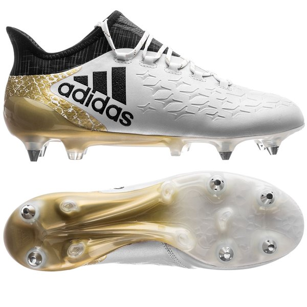 reputable site f64e6 018aa 200.00 EUR. Price is incl. 19% VAT. -44%. adidas X 16.1 SG Stellar Pack -  White Core Black Gold Metallic