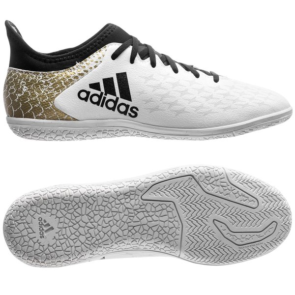 super popular 9e166 fcb9b adidas X 16.3 IN Stellar Pack - White Core Black Gold Metallic Kids    www.unisportstore.com