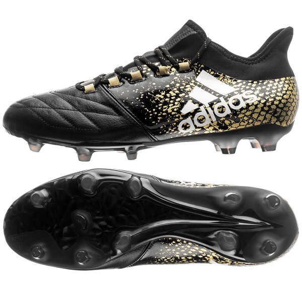 deseable yo lavo mi ropa curva  adidas X 16.2 FG/AG Leather Stellar Pack - Core Black/White/Gold Metallic |  www.unisportstore.com