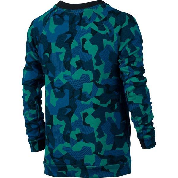 b3b773564903 Nike Tech Fleece Crew - Rio Teal Black Kids
