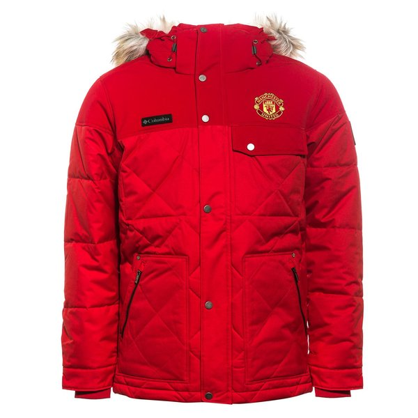 Manchester United x Columbia Jacket Barlow Pass 550 TurboDown Quilted -  Cherrybomb. Read more about the product. - jackets. - jackets image shadow 460fbbce46