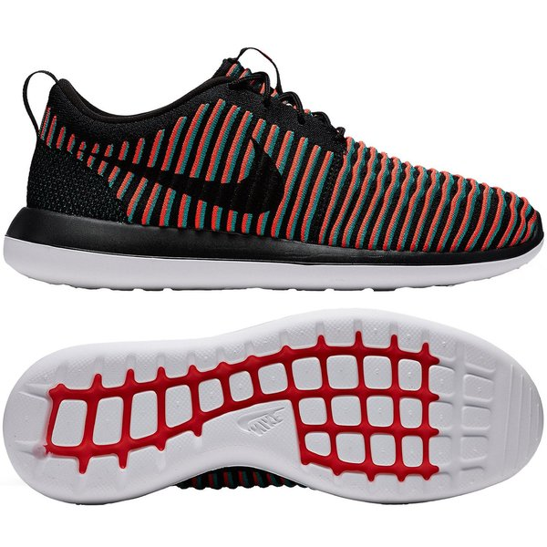 low priced 02090 4be82 Nike Roshe Two Flyknit - Black Bright Crimson Clear Jade   www ...