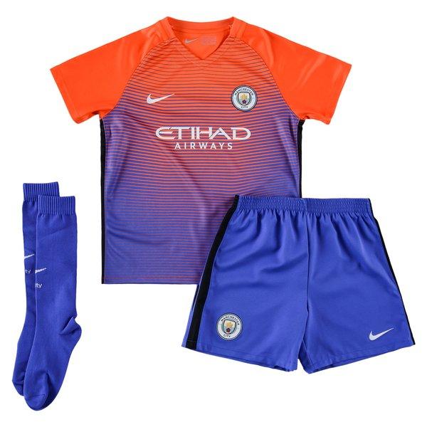 separation shoes d4bcf d35b2 Manchester City 3rd Shirt 2016/17 Mini-Kit Kids | www ...
