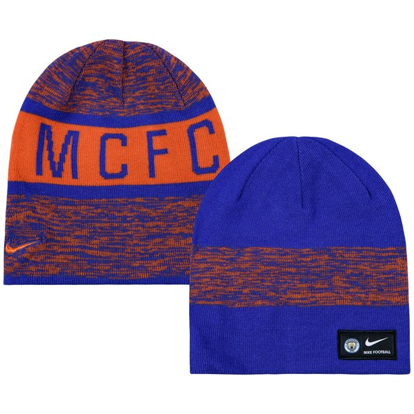 Manchester City Reversible Beanie - Safety Orange Persian Violet ... 828229e8a65