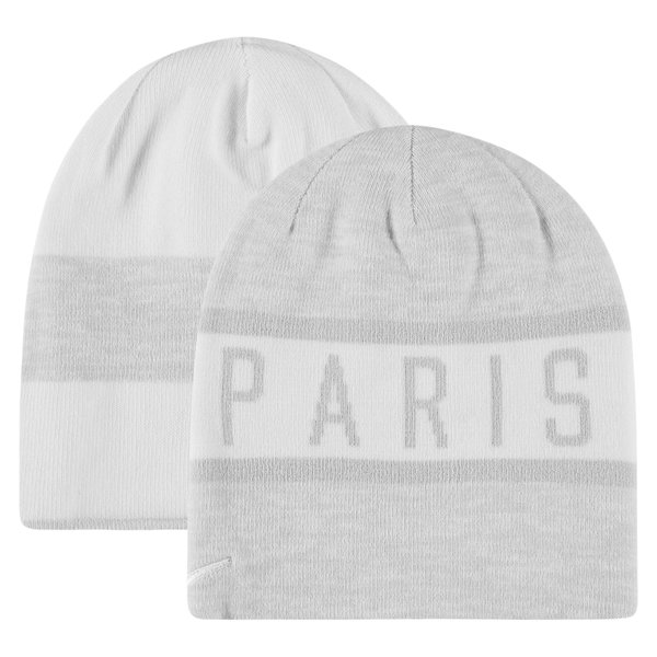 Paris Saint Germain Reversible Beanie Pure Platinum White Www Unisportstore Com