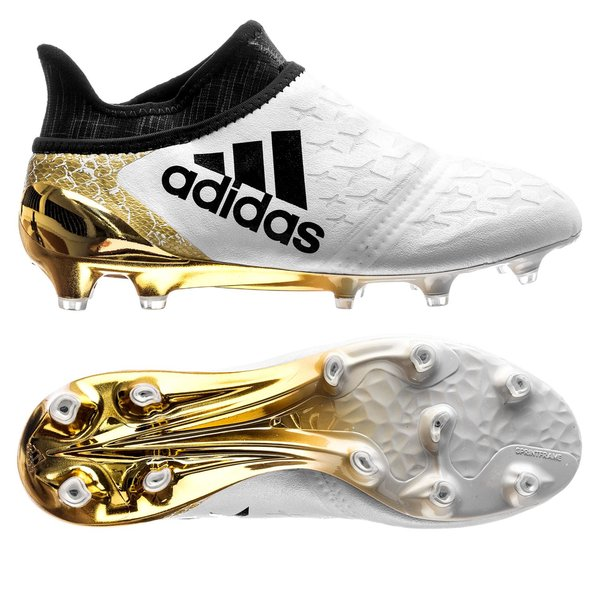 d95811a7cac 150.00 EUR. Price is incl. 19% VAT. -19%. adidas X 16+ PureChaos FG AG  Stellar Pack - White Black Gold