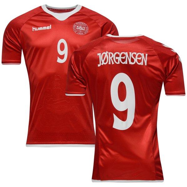 e956bc8d1ba Danmark Hjemmebanetrøje 2016/17 JØRGENSEN 9 Børn | www.unisport.dk