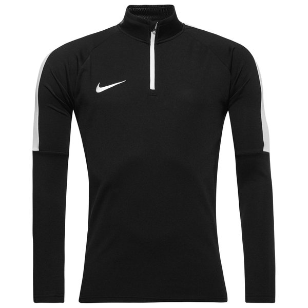 Nike Maillot d'Entraînement Midlayer Drill Top Academy - Noir/Blanc