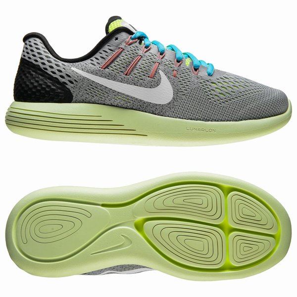 Nike Chaussures de Running LunarGlide Fluo 8 Gris Blanc Jaune Fluo LunarGlide eeff0b