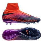 Nike Hypervenom Phantom II FG Floodlights Pack - Oransje/Navy/Lilla Barn