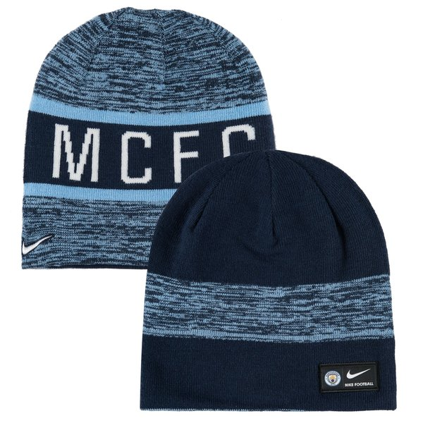 Manchester City Reversible Beanie - Field Blue Midnight Navy  bd15f3136fe