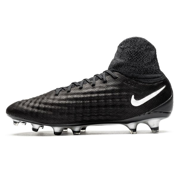 Nike Magista Obra II Leder FG Tech Craft Pack 2.0 SchwarzSilber
