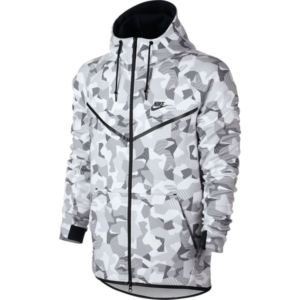heiß Nike Tech Fleece Windrunner Hoodie | Weiss | Zip