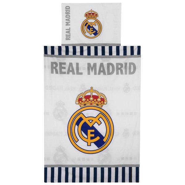 real madrid sengetøj Real Madrid Sengetøj   Hvid | .unisport.dk real madrid sengetøj
