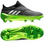 adidas Messi 16+ PureAgility FG/AG Space Dust - Grå/Sølv/Grøn Børn