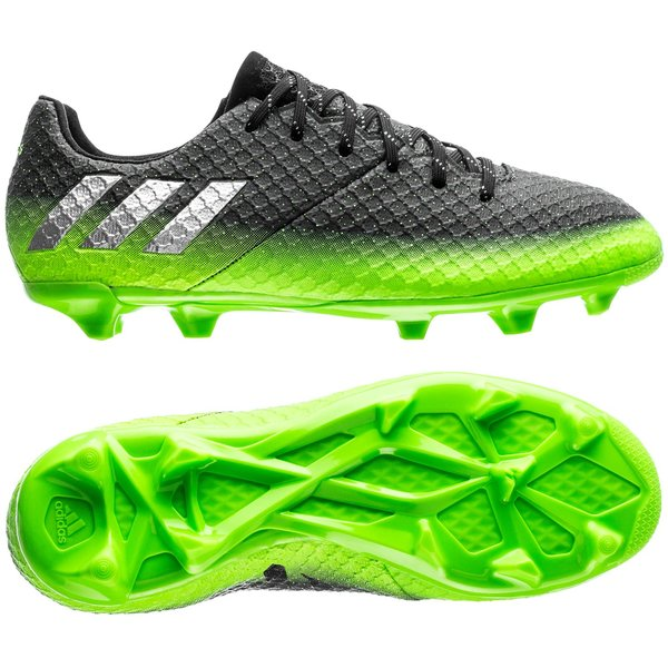 finest selection 5c97a 75126 adidas Messi 16.1 FG AG Space Dust - Gris Argenté Vert Enfant 0
