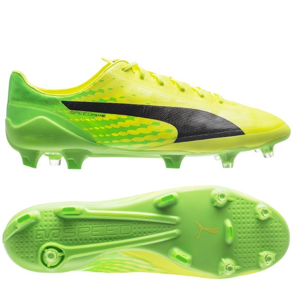 PUMA evoSPEED 17 SL FG - Safety Yellow/PUMA Black/Green Gecko