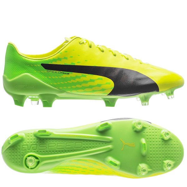 PUMA evoSPEED 17 SL-S FG - Safety Yellow/PUMA Black/Green Gecko