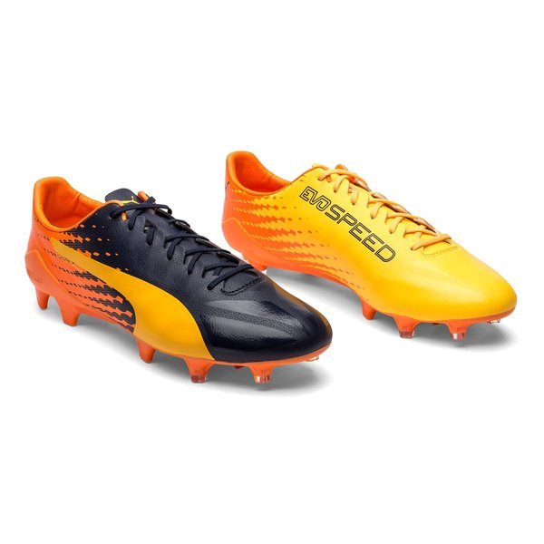PUMA evoSPEED 17 SL-S FG - Ultra Yellow/Peacoat/Orange Clownfish