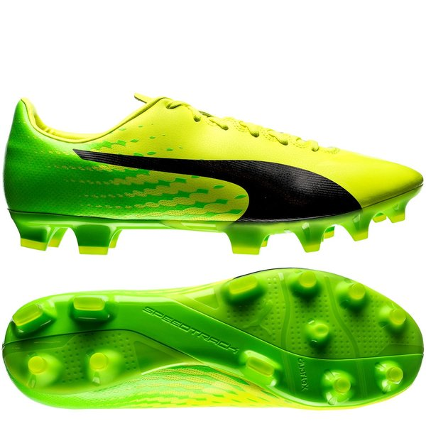 PUMA evoSPEED 17.2 FG - Safety Yellow/PUMA Black/Green Gecko