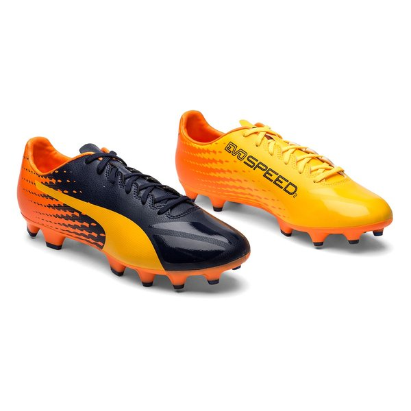 PUMA evoSPEED 17.2 FG - Ultra Yellow/Peacoat/Orange Clownfish