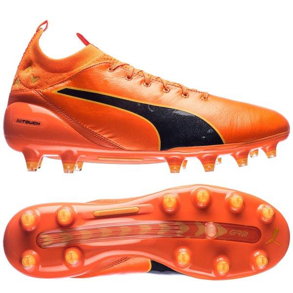 Puma evotouch Pro FG, Orange Clown Fish-Peacoat-ULTRA YELLOW, 6