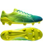 PUMA evoSPEED Fresh 2.0 FG - Safety Yellow/PUMA White/Blue Danube
