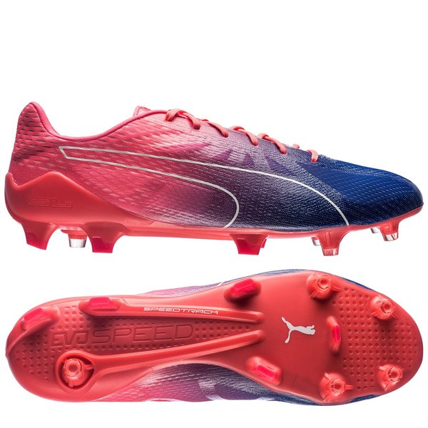 4b97ffecb7a puma evospeed fresh 2.0 fg - bright plasma puma white true blue - football  ...