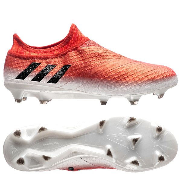 best authentic cc218 03027 adidas Messi 16+ PureAgility FGAG Red Limit - Feather WhiteCore BlackRed.  Read more about the product. - football boots. - football boots image shadow