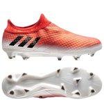adidas Messi 16+ PureAgility FG/AG Red Limit - Blanc/Noir/Rouge