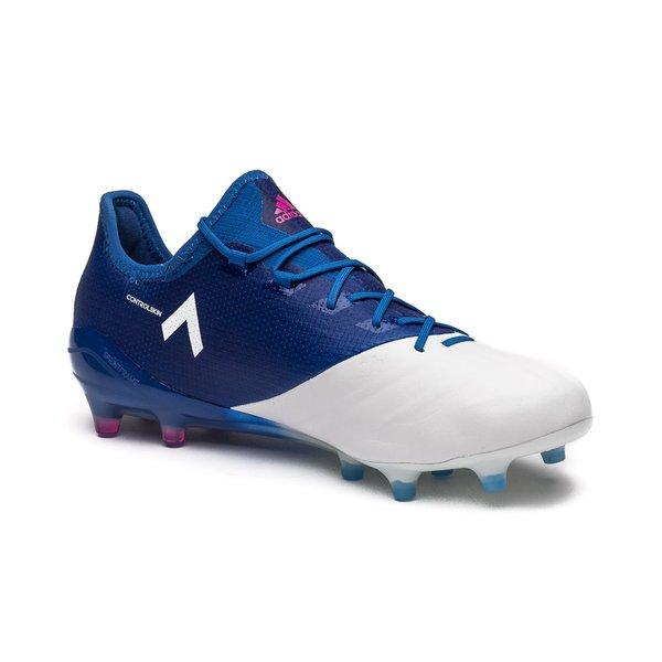 adidas ACE 17.1 Cuir FG AG Blue Blast - Bleu Rose Blanc   www ... b5a7b69a4c41