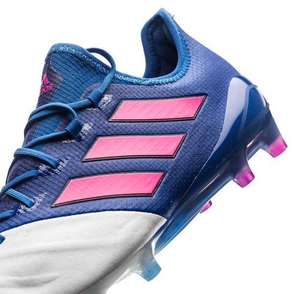 adidas ACE 17.1 Cuir FGAG Blue Blast BleuRoseBlanc